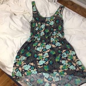 Printed high low dress NWOT